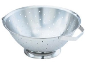 11 Inch Stainless Steel Colander - restockit.com