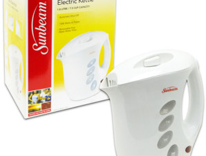 Sunbeam 1.8 Liter Electric Kettle in White - dollardays.com