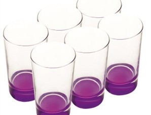 Arcobaleno High Ball Glasses in Purple by Maxwell & Williams - indigo.ca