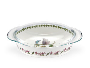 Botanic Garden Large Oval Casserole with Glass Lid - royaldesign.com
