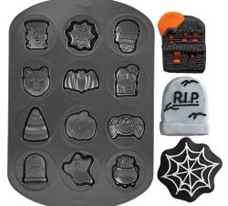 Halloween Shapes Non-Stick Cookie Pan - buycostumes.com