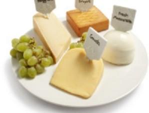 Blanc Round Cheese Platter