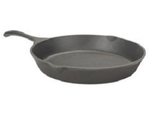 14 Inch Round Cast Iron Skillet - shop.cookingwithkimberly.com